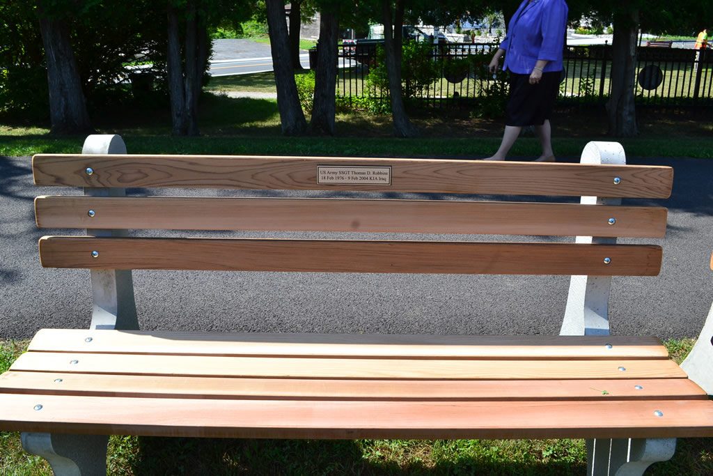 First Rail Trail Bench Dedicated, to Thomas D. Robbins